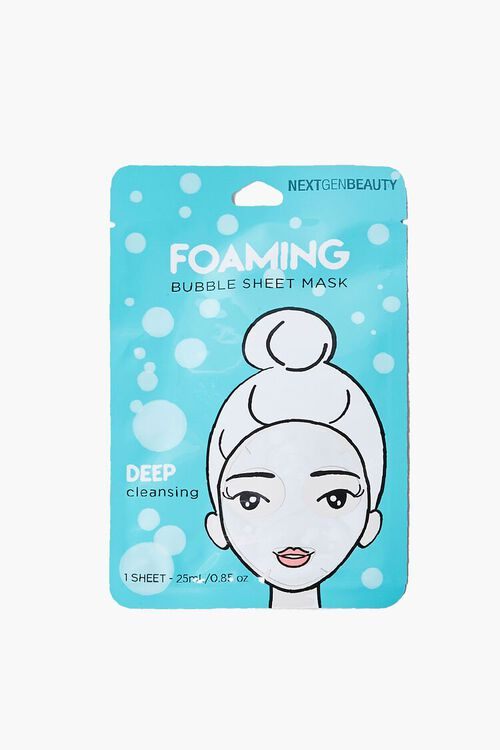 BLUE Foaming Bubble Sheet Face Mask, image 1