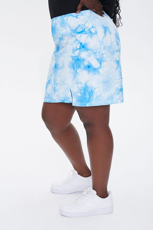 Plus Size Tie-Dye Mini Skirt, image 3