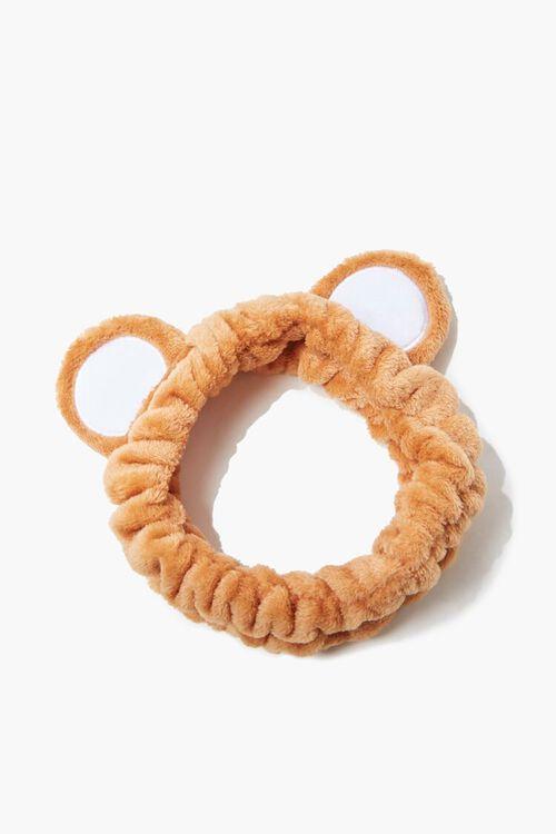 BROWN/MULTI Teddy Bear Headwrap, image 1