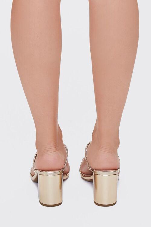 Metallic Slip-On Block Heels, image 3