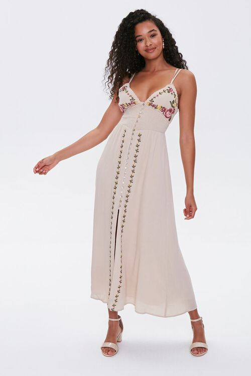 Floral Embroidered Maxi Dress, image 4