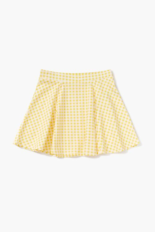 Girls Gingham Print Skirt (Kids), image 1