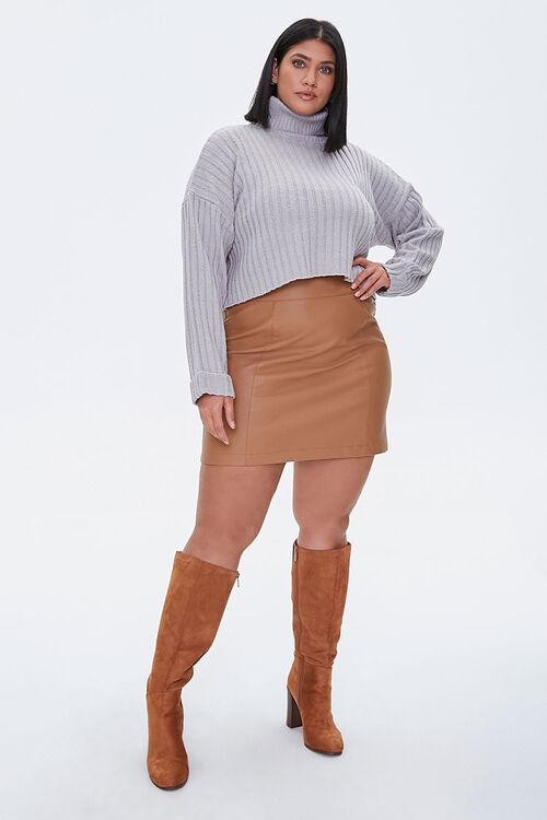 Plus Size Ribbed Turtleneck Sweater, image 4