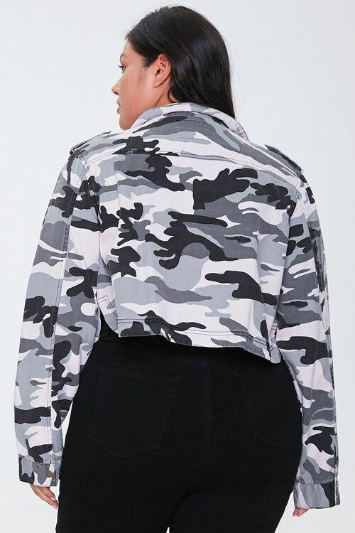 Plus Size Camo Print Jacket, image 3
