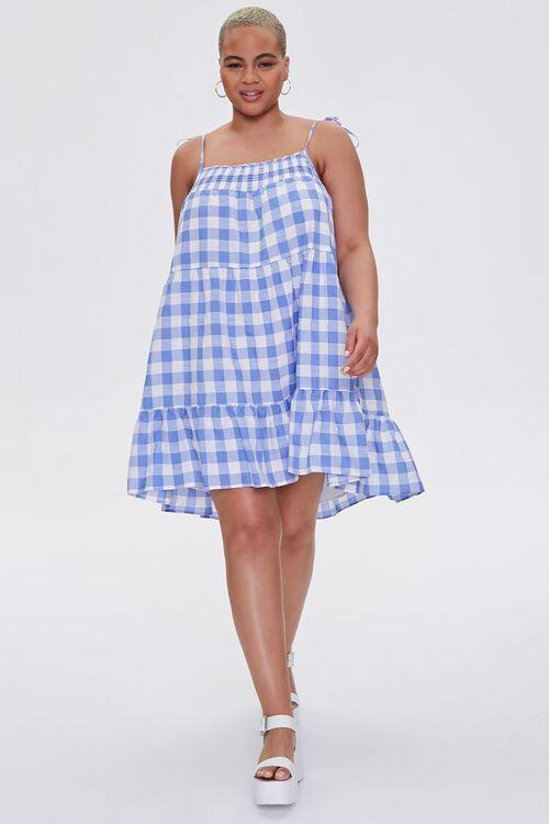 Plus Size Gingham Mini Dress, image 4
