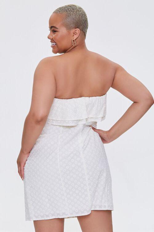 Plus Size Eyelet Flounce Mini Dress, image 3