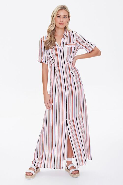 Multicolor Striped Dress, image 2