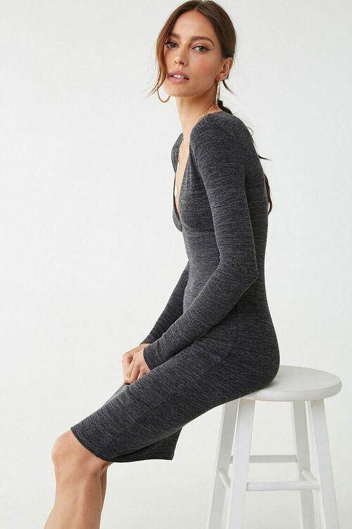 Marled Long Sleeve Mini Dress, image 3