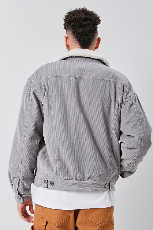 Corduroy Faux Shearling-Lined Jacket, image 3