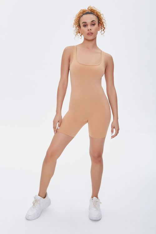 Fitted Square-Neck Romper, image 4