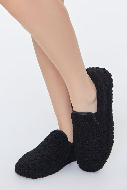 Faux Shearling Slip-On Sneakers, image 1