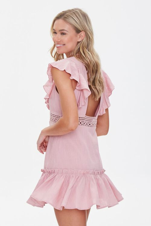 Ruffled Lace-Trim Cap-Sleeve Dress, image 2