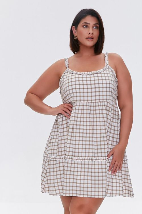 Plaid Tie-Back Dress, image 1