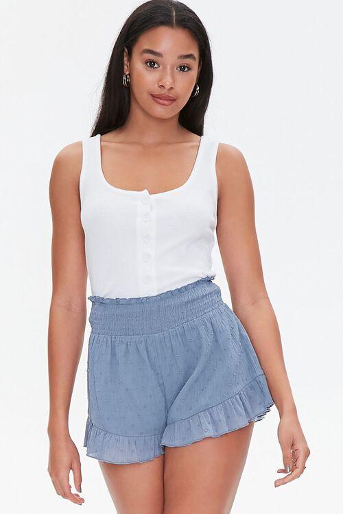 Ruffle-Trim High-Rise Shorts, image 1