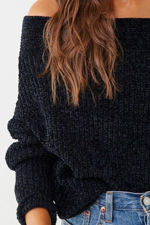 Chenille Off-the-Shoulder Sweater, image 5