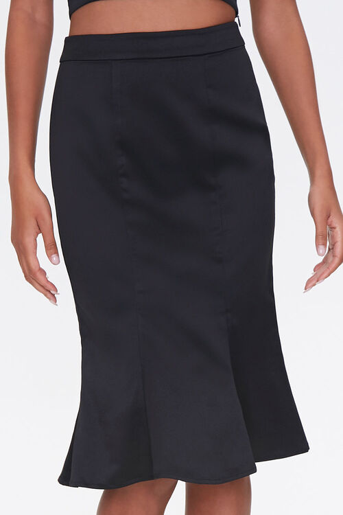 Fluted Knee-Length Skirt, image 2