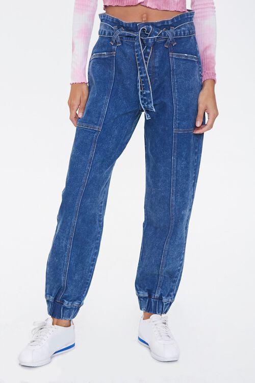 MEDIUM DENIM Paperbag Jogger Jeans, image 2