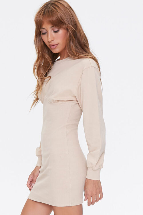 French Terry Bodycon Dress, image 2