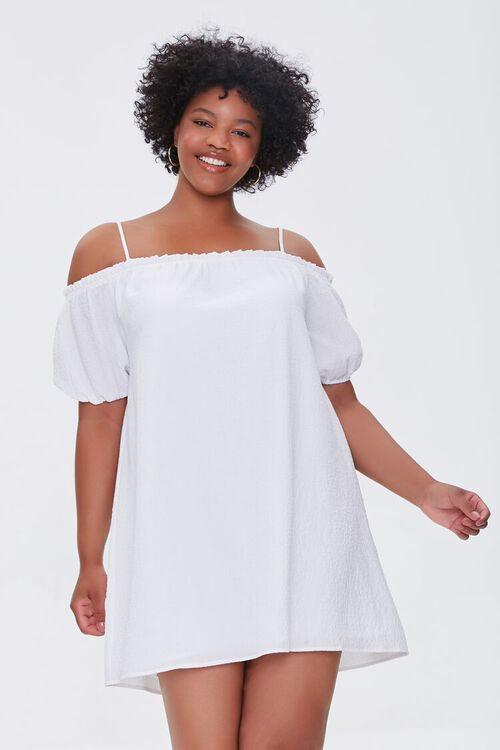 Plus Size Off-the-Shoulder Mini Dress, image 1