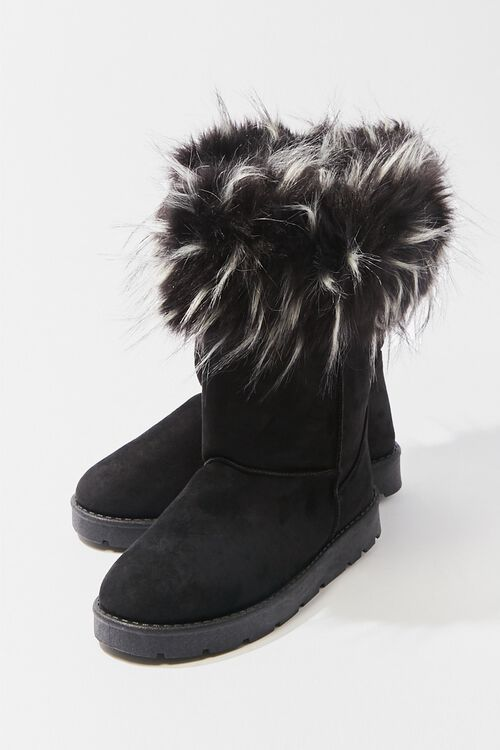 Faux Fur-Trim Ankle Booties, image 3