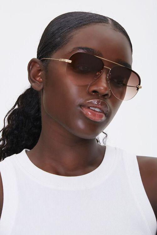 Rimless Aviator Sunglasses, image 1