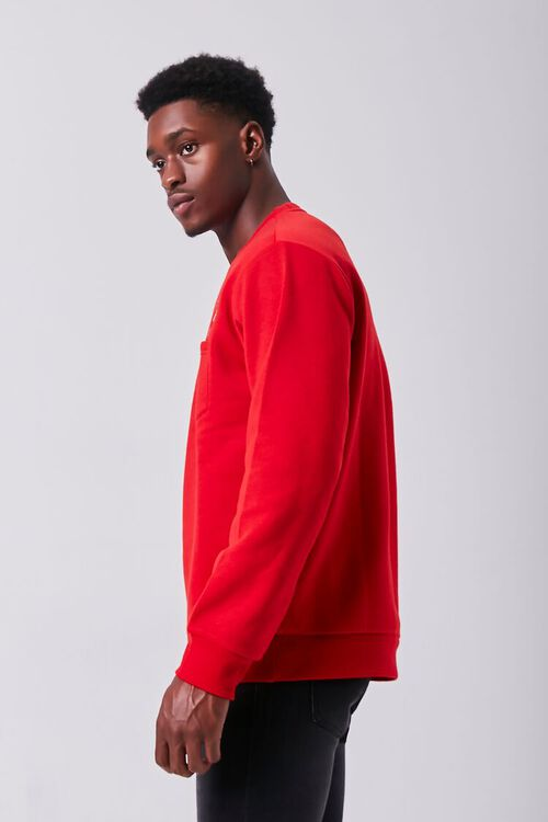RED/MULTI Embroidered Dancer Graphic Pullover, image 2