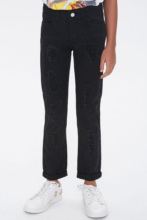 Girls Distressed Cuffed Pants (Kids), image 1