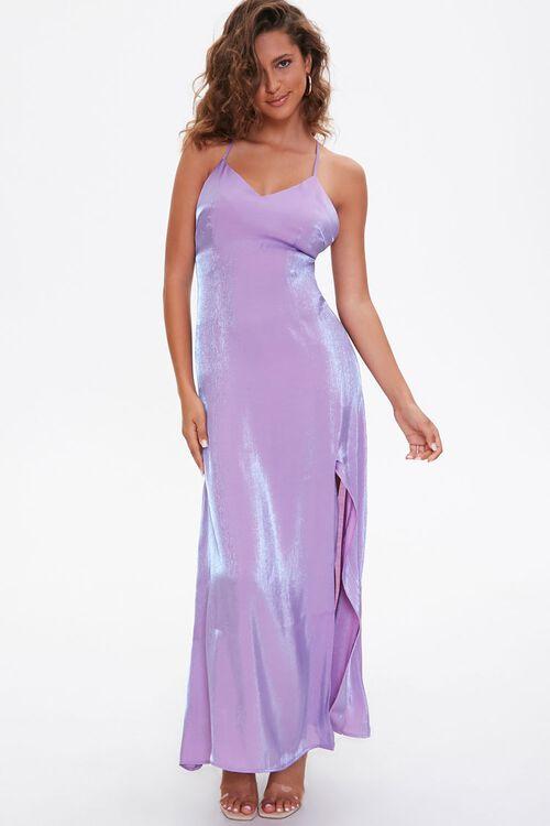 Satin Maxi Slip Dress, image 1