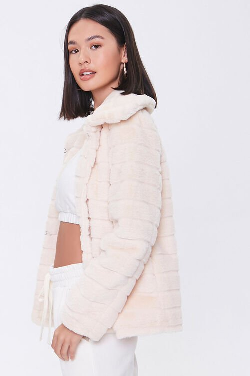 Quilted Faux Fur Coat, image 2