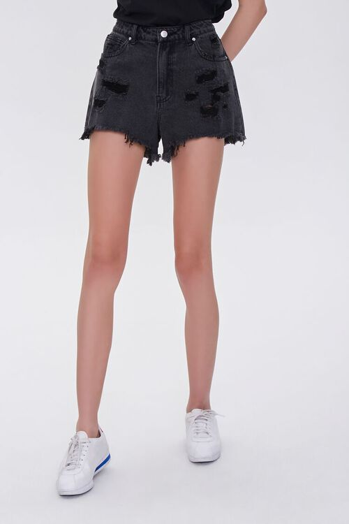 Distressed Denim Shorts, image 2