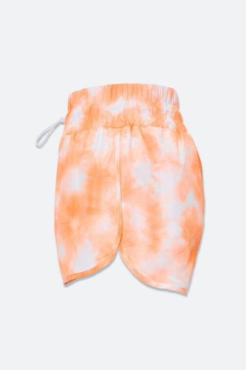 ORANGE/WHITE Tie-Dye Dolphin Shorts, image 2
