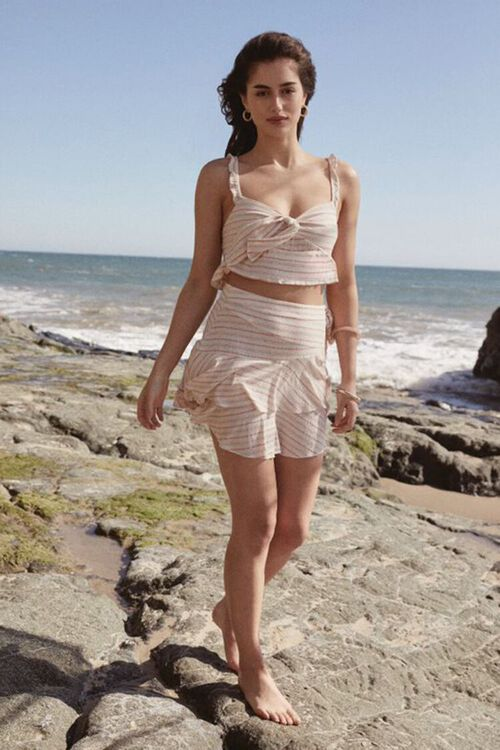 Striped Flounce Mini Skirt, image 1