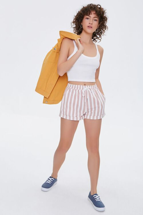Striped Twill Shorts, image 5