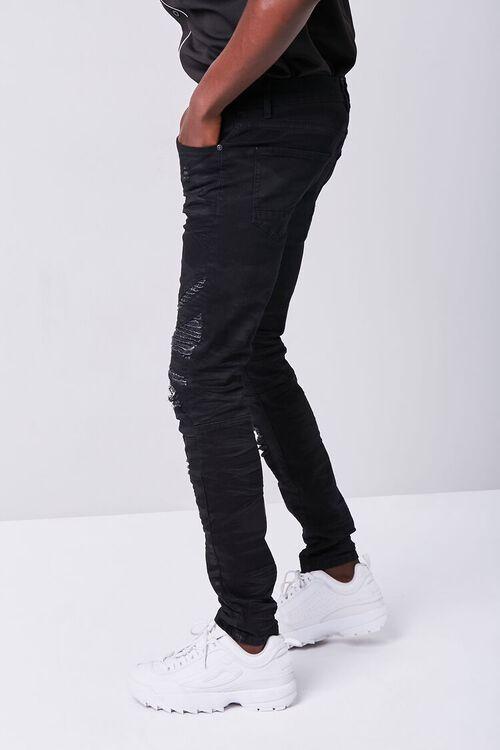 Waimea Distressed Moto Jeans, image 3