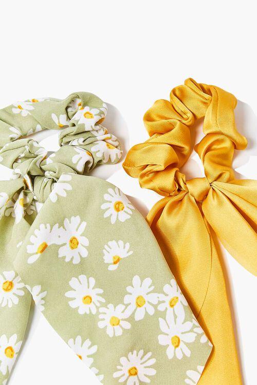 Daisy Bow Scrunchie Set, image 1