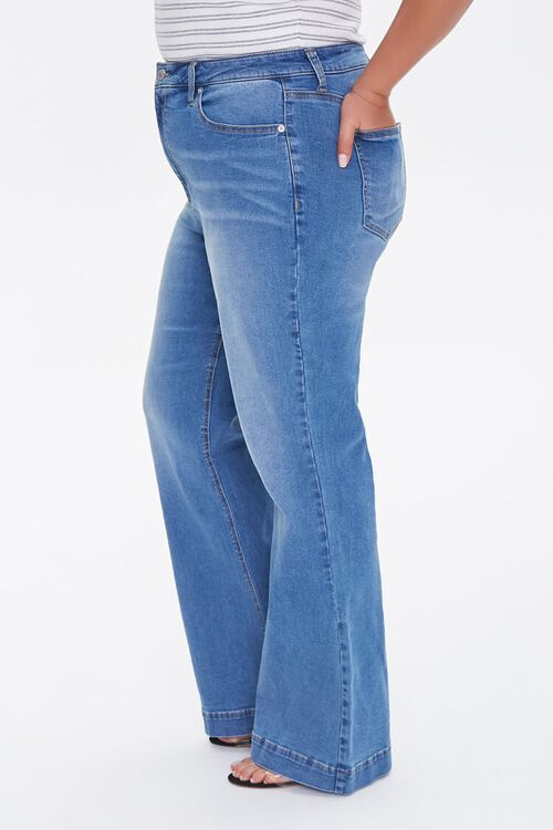 Plus Size High-Rise Flare Jeans, image 3