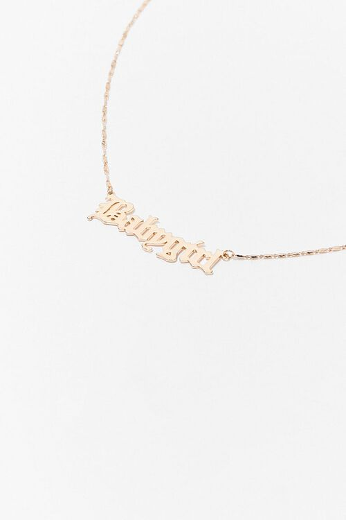 Babygirl Pendant Chain Necklace, image 2