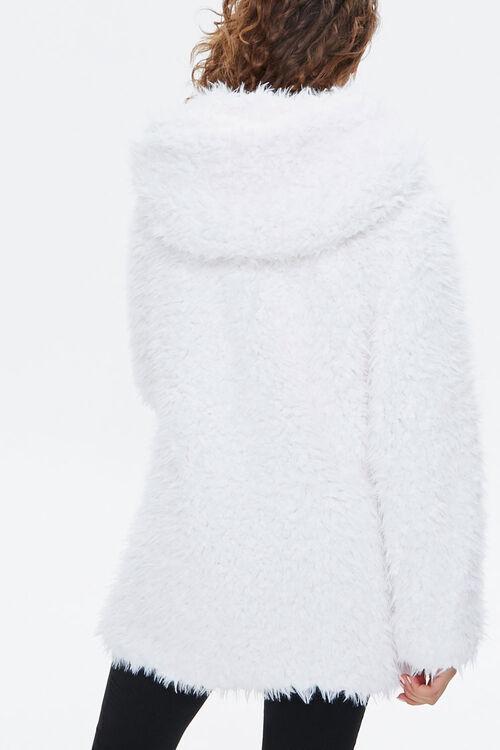 Hooded Fuzzy Knit Jacket, image 3