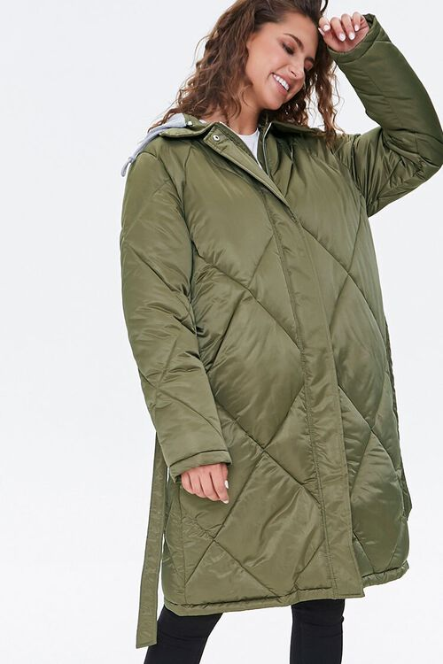 Longline Quilted Puffer Jacket, image 5