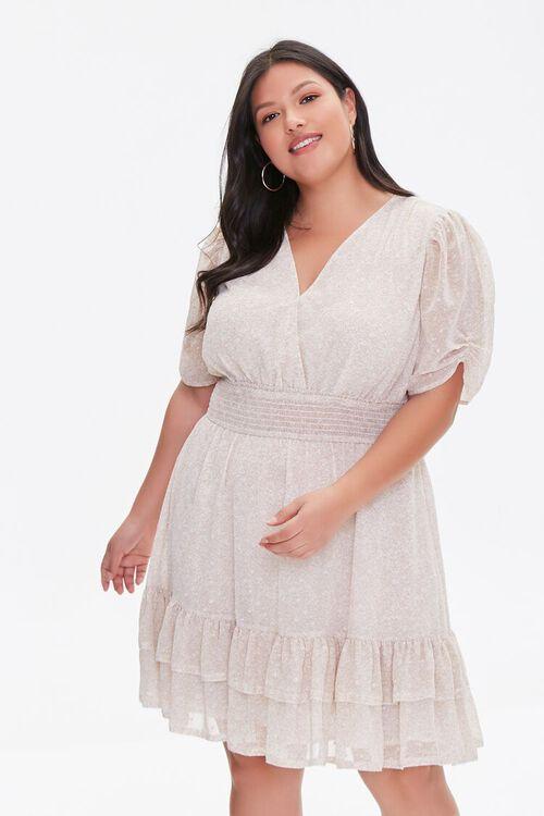 Plus Size Floral Flounce Dress, image 1