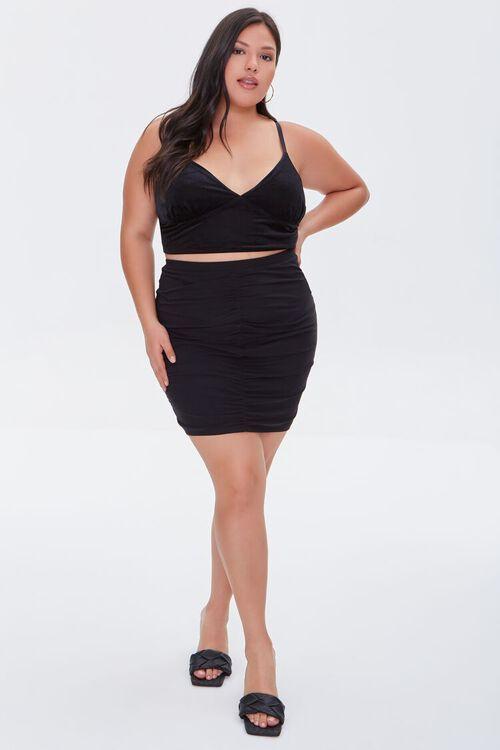 Plus Size Ruched Drawstring Skirt, image 5