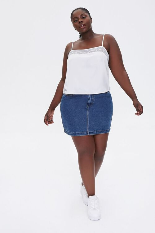 Plus Size Embroidered-Trim Cami, image 4