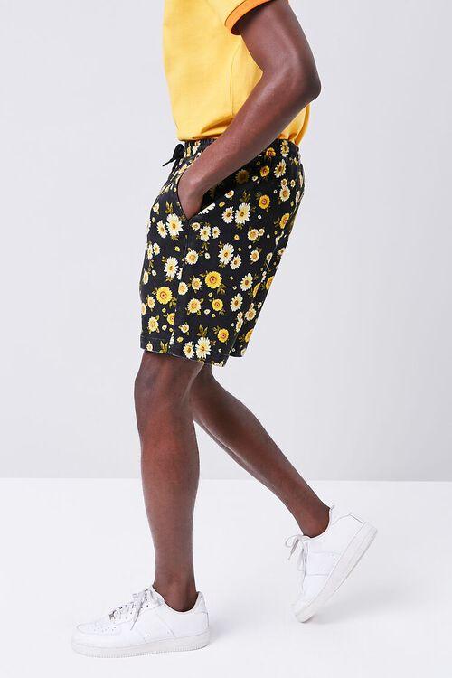 Daisy Print Drawstring Shorts, image 3