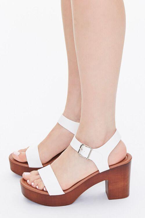 Faux Wooden Block Heels, image 2