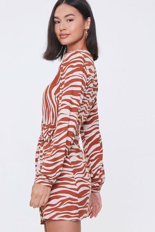 TAUPE/RUST Tiger Print Mini Dress, image 2