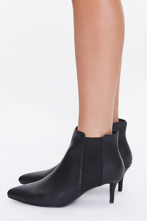 Faux Leather Stiletto Chelsea Boots, image 2