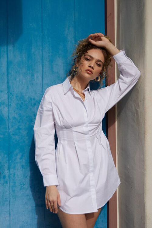 Dropped-Sleeve Shirt Dress, image 1