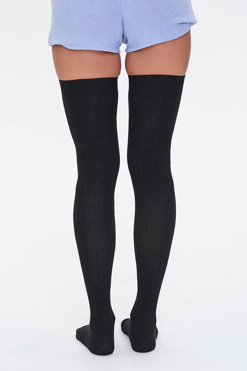 Shadow-Striped Thigh-High Socks, image 3