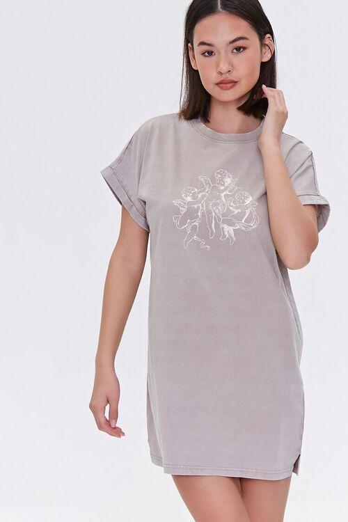 Angel Graphic T-Shirt Dress, image 1