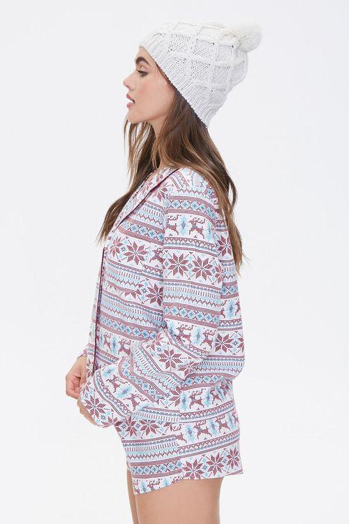 Fair Isle Print Pajama Set, image 2
